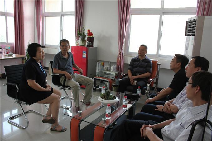 热烈欢迎河南省商务厅一行领导莅临洛阳市青峰网络科技有限公司参观指导